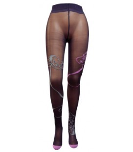Collants Marianne Raisin/Rose Berthe aux Grands Pieds